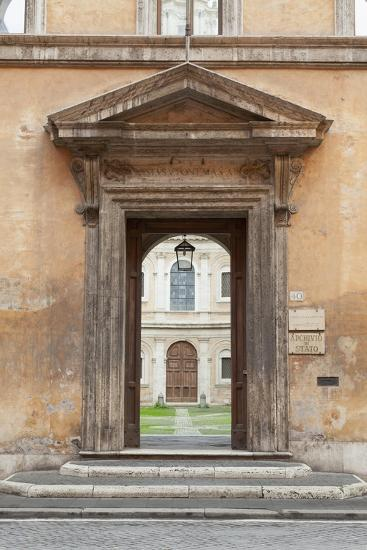 Door Leading to the Courtyard of the Studium Urbis--Giclee Print