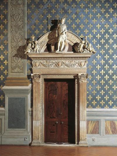Door of Hall of Justice, Palazzo Vecchio, Florence, Italy--Giclee Print