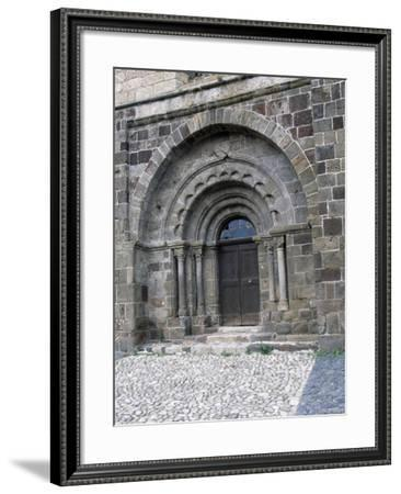 Door of Saint-Pierre Church, Arlempdes, Auvergne. France, 11th-16th Century--Framed Giclee Print