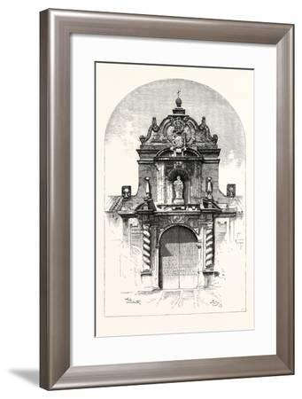 Door of the Church of San Pablo, Cordova, Spain--Framed Giclee Print
