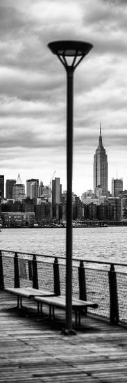 Door Posters - View of Manhattan with the Empire State Building a Jetty in Brooklyn-Philippe Hugonnard-Photographic Print
