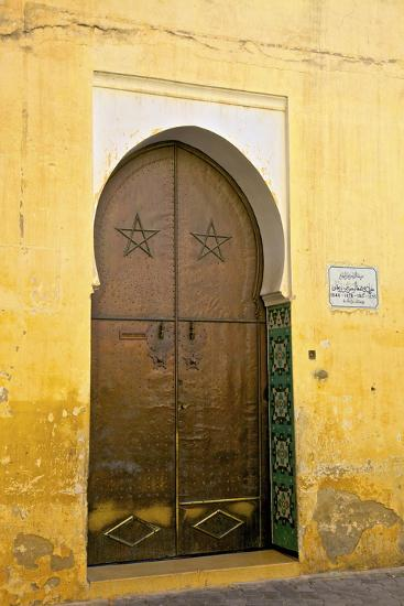 Door to Mosque, Medina, Meknes, Morocco, North Africa, Africa-Neil Farrin-Photographic Print