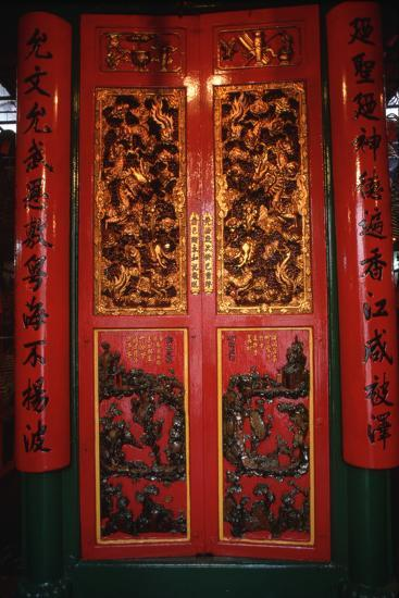 Doors at the Man Mo Temple-Macduff Everton-Photographic Print