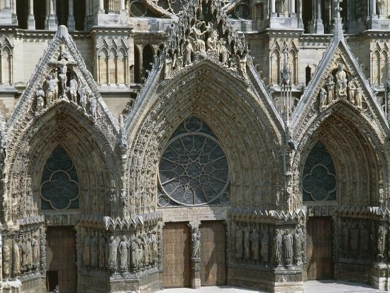 Doors of West Facade of Cathedral of Notre-Dame--Photographic Print