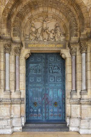 Doors to Basilique Du Sacre Coeur, Montmartre, Paris, France-Brian Jannsen-Premium Photographic Print