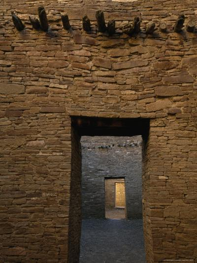 Doorway and Walls Inside Pueblo Bonito-Bill Hatcher-Photographic Print