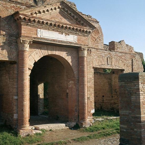 Doorway and warehouse at the Roman port of Ostia, 2nd century-Unknown-Photographic Print
