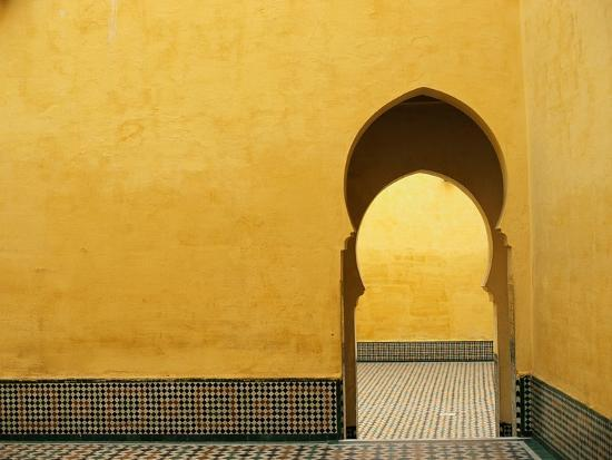 Doorway at Mausoleum of Moulay Ismail-Paul Souders-Photographic Print