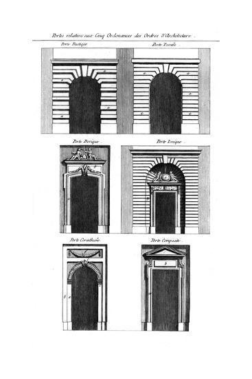 Doorway, Classical Orders--Giclee Print