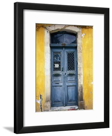 Doorway in Old Venetian Quarter, Hania, Crete, Greece-Diana Mayfield-Framed Photographic Print
