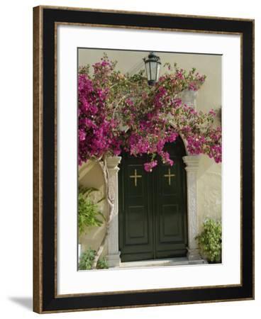 Doorway of Paleokastritsa Monastery, Corfu, Ionian Islands, Greek Islands, Greece, Europe-Hans Peter Merten-Framed Photographic Print