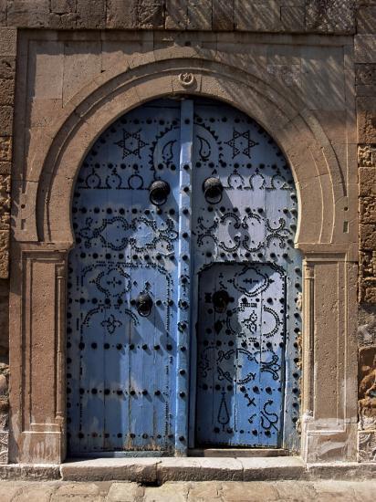 Doorway, Sidi Bou Said, Tunisia, North Africa, Africa-J Lightfoot-Photographic Print