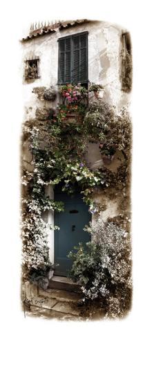 Doorway with Flowers-Jean Onesti-Art Print