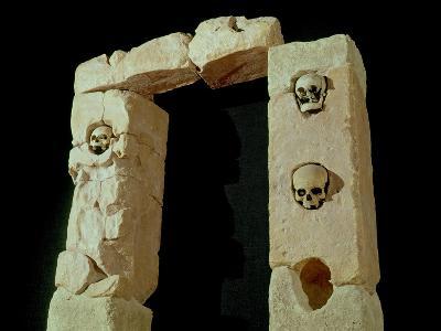 Doorway with Skulls, from the Sanctuary of Roquepertuse, Gaule, La Tene II Civilization--Giclee Print