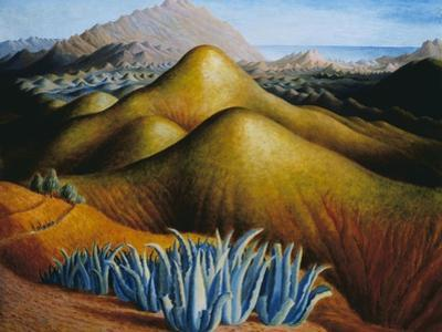 Spanish Landscape with Mountains by Dora Carrington