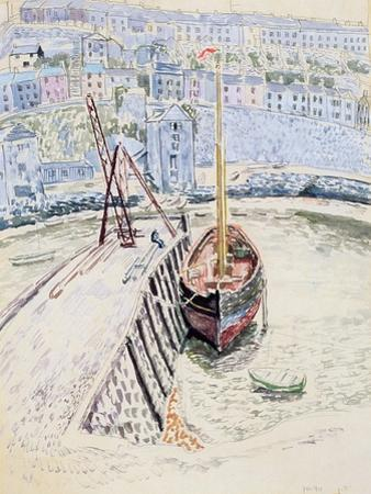 The 'Sans Pareil' in Brixham Harbour, c.1931 by Dora Carrington
