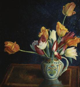 Tulips in a Staffordshire Jug, Catalogue No. 210C by Dora Carrington