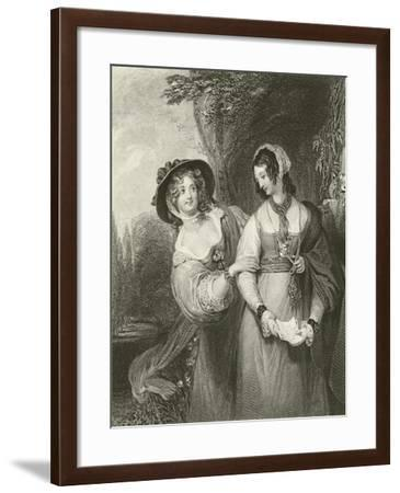 Doretta and Isabel--Framed Giclee Print