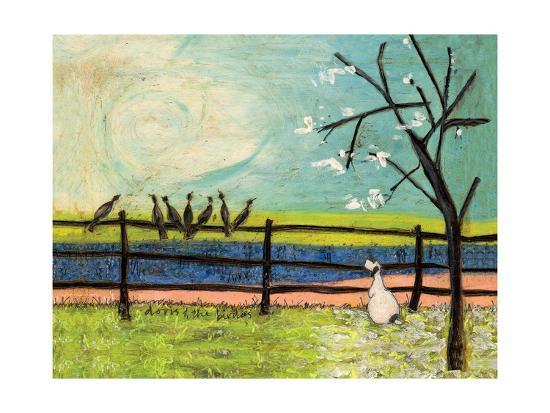 Doris and the Birdies-Sam Toft-Giclee Print