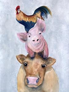 Farmland Trio 1 by Doris Charest