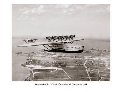 Dormier Do-X, in Flight over Norfolk, Virginia, 1931--Giclee Print
