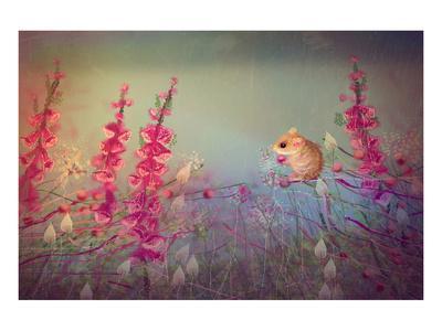 Dormouse party-Claire Westwood-Art Print