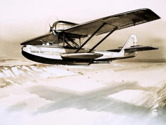 Dornier Wal, Twin-Engined German Flying Boat--Giclee Print
