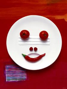 Vegetable Face on Plate by Dorota & Bogdan Bialy