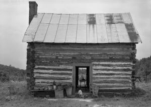 African American Sharecropper House with Child on Steps, North Carolina, July 1939 by Dorothea Lange
