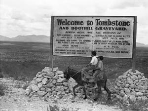 Arizona: Tombstone, 1937 by Dorothea Lange