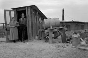 Basement Home by Dorothea Lange