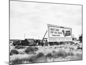 Billboard Camp, 1938 by Dorothea Lange