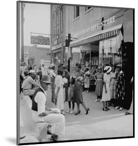 Blacks Shopping on Main Street by Dorothea Lange