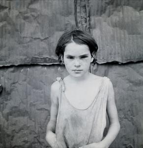 Child Living in Oklahoma City Shacktown by Dorothea Lange