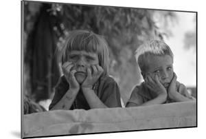 Children of Oklahoma Drought Refugee by Dorothea Lange