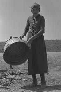Contracting Grandmother by Dorothea Lange