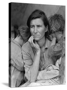 Destitute Pea Pickers in California, Mother of Seven Children, Nipomo, California, 1936 by Dorothea Lange