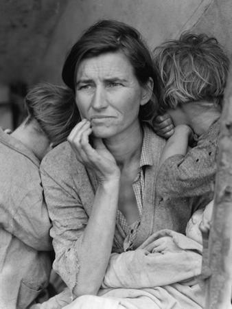 Destitute Pea Pickers in California, Mother of Seven Children, Nipomo, California, 1936