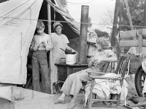 Drought refugees from Texas encamped in California, 1936 by Dorothea Lange