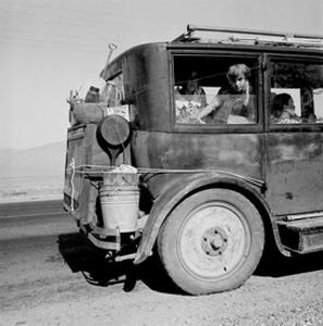 Drought Refugees Migrate by Car by Dorothea Lange