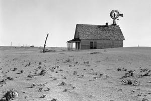Dust Bowl Farm by Dorothea Lange