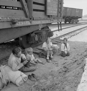 Freight Train Family by Dorothea Lange