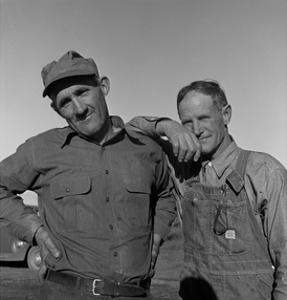Heads of Families on the Mineral King Cooperative Farm. by Dorothea Lange
