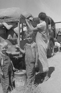 Impoverished Family by Dorothea Lange