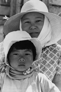 Japanese Mother and Daughter, Agricultural Workers by Dorothea Lange