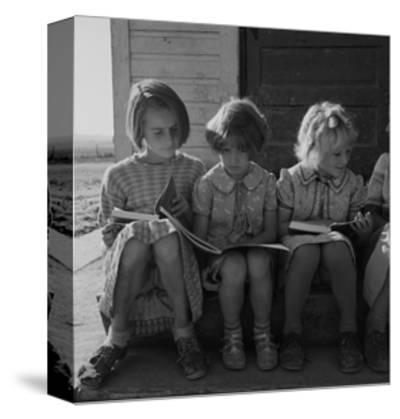 Little Girls Read their Lessons