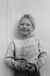 Migrant Child in Shafter Camp by Dorothea Lange
