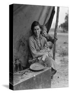 Migrant farm worker's family in Nipomo California, 1936 by Dorothea Lange