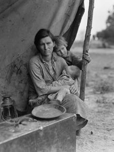 Migrant farm worker's family in Nipomo California, 1936 by Dorothea Lange