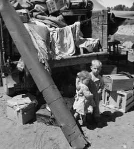 "Migratory Children Living in ""Rambler's Park."" by Dorothea Lange"